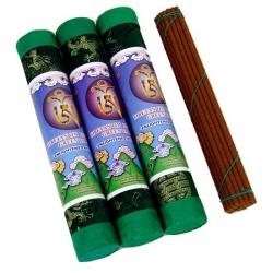 Green Tara Tibetaanse wierook in luxe brokaat koker