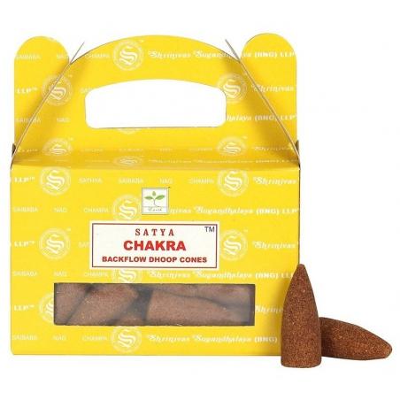Chakra Backflow incense cone (Satya)