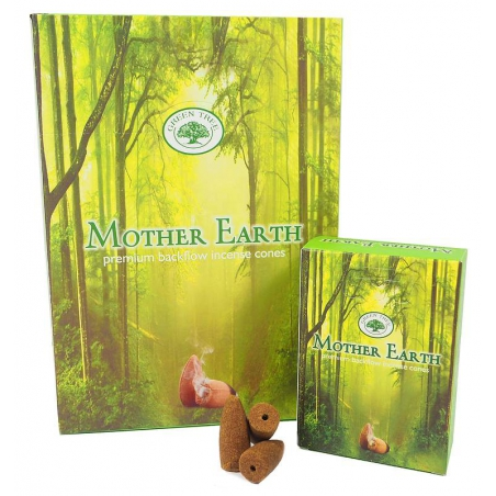 12 packs Mother Earth backflow incense cones (Green Tree)
