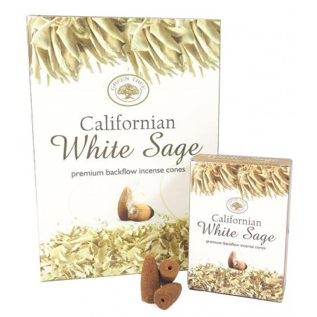 12 packs Californian White Sage backflow incense cones (Green Tree)