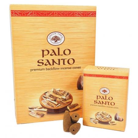 12 pakjes Palo Santo backflow kegelwierook (Green Tree)