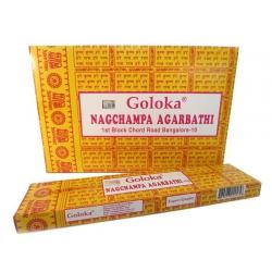 12 pakjes Nagchampa Agarbathi 16gr (GOLOKA)