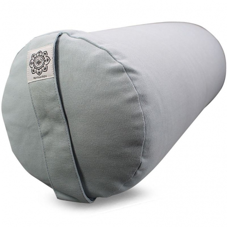 Bolster canvas Flower of Life cool gray