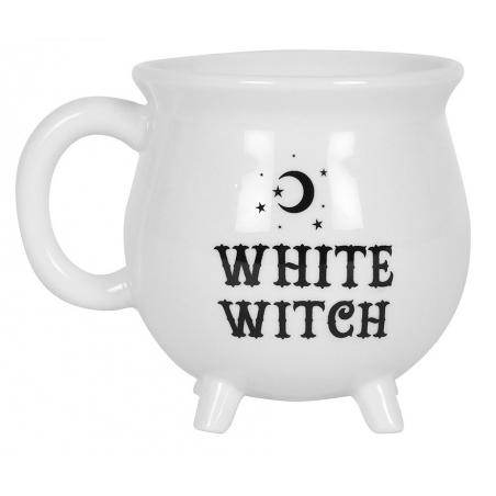 Witch's cauldron mug (white) White Witch