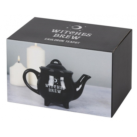 Witch's cauldron teapot Witches Brew (black)