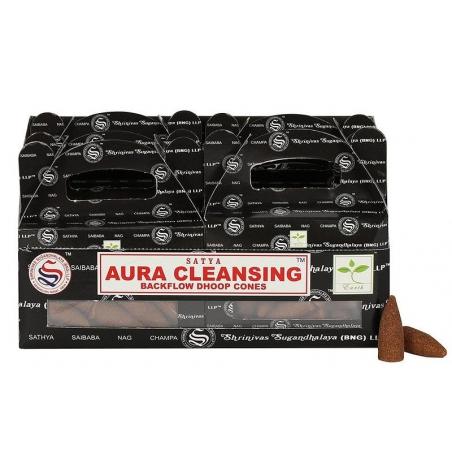 6 pakjes Aura Cleansing Backflow kegelwierook (Satya)
