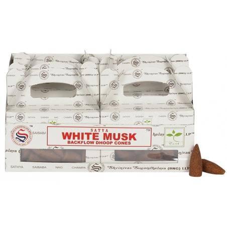 6 pakjes White Musk Backflow kegelwierook (Satya)