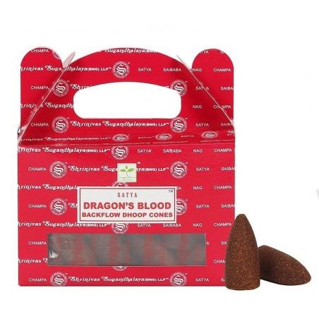 6 packs Dragon's Blood Backflow incense cone (Satya)