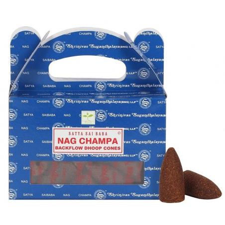 6 packs Nag Champa Backflow incense cone (Satya)