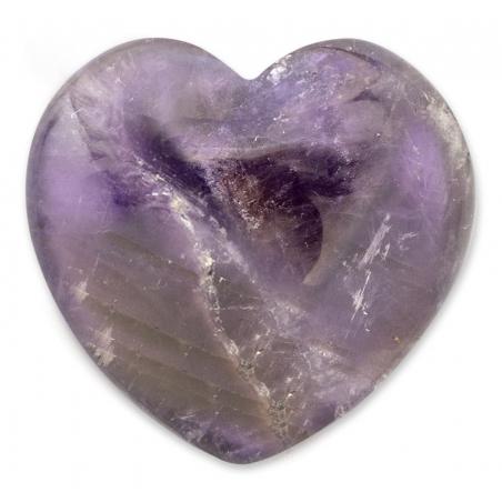 Amethyst gemstone heart 30mm