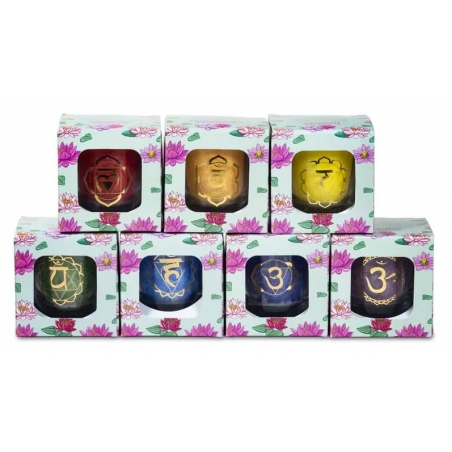 Set 7 chakra votive scented candles in gift box