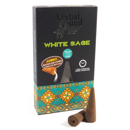 Tribal Soul White Sage backflow incense cones