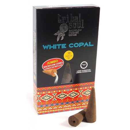 Tribal Soul White Copal backflow incense cones