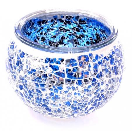 Mosaic tealight holder Dark Blue