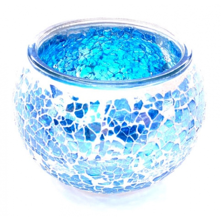 Mosaic tealight holder Light Blue