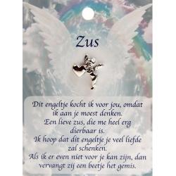 Angel pin engel met hartje - Zus