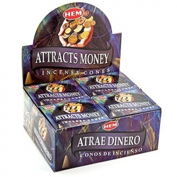 Attracts Money - Kegel wierook (HEM)