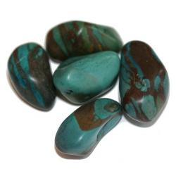 Chrysocolla steen (getrommeld)