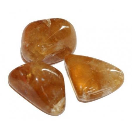 Honey Calcite tumbled stone 15-20mm