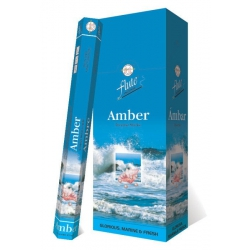 6 pakjes Amber wierook (Flute)