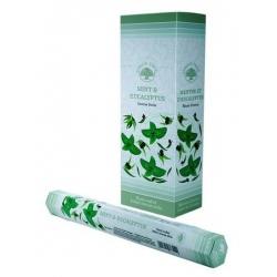 6 pakjes Mint & Eucalyptus wierook (Green Tree)