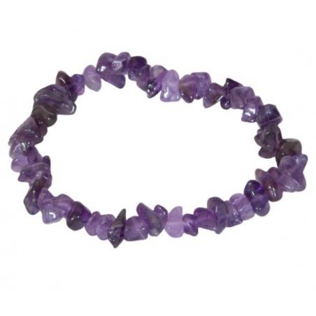 Split-gemstone Amethyst bracelet