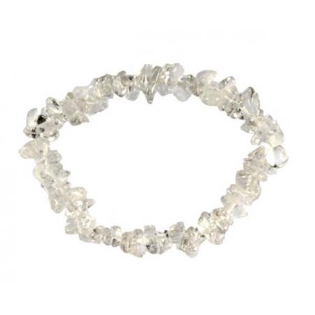 Mountain crystal gemstone split bracelet