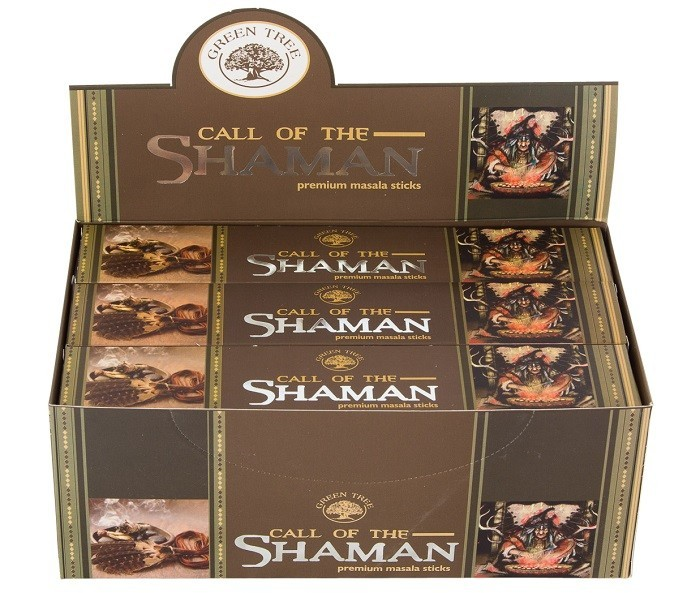 12 pakjes Call of the Shaman wierook (Green tree)