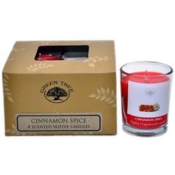 4 x Cinnamon Spice Geurkaarsen