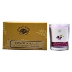 4 x French Lavender geurkaarsen