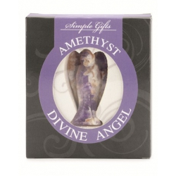Amethyst Quarz Edelstein Engel (50 mm)