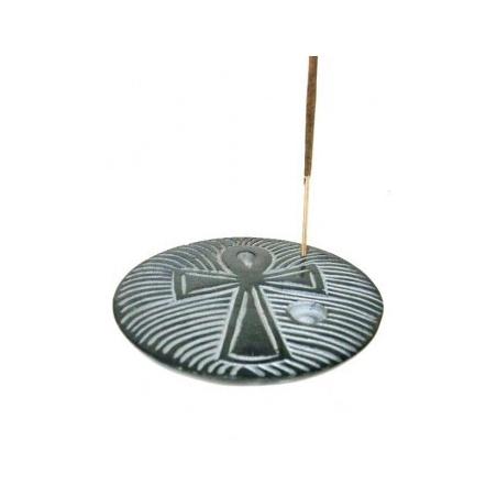 ANKH incense burner (black soapstone)
