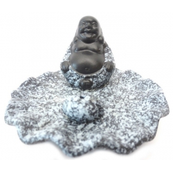 Wierookhouder - Lucky boeddha grijs/zwart