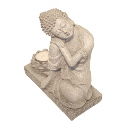 Peaceful boeddha met waxinelicht kaarshouder