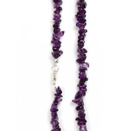 Amethyst-gemstone necklace