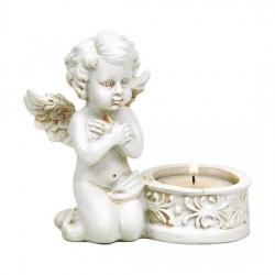 biddende Cupido met waxinelichthouder