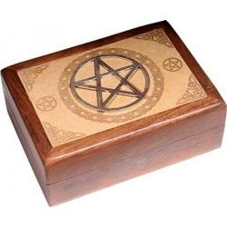 Tarotdoos - Pentagram gegraveerd
