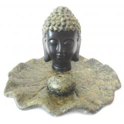 Wierookhouder - Boeddha hoofdje zwart/bruin