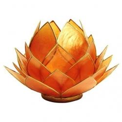Lotus Kaarsenbrander groot - Amber oranje