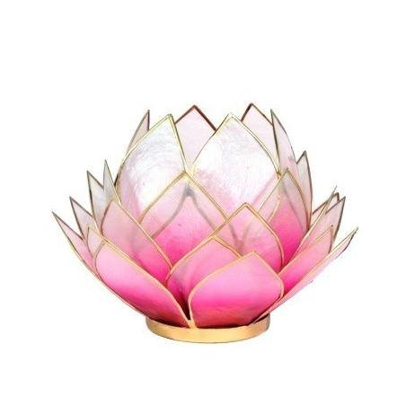 Lotus Candles burner large-pink