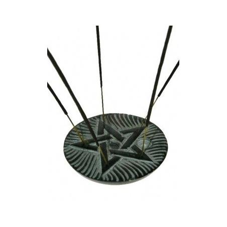 Incense burner Pentagram (black soapstone)