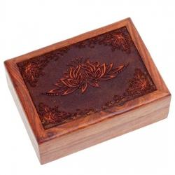 Tarotdoos Lotus gegraveerd