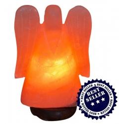 """Zoutlamp """"Engel""""met houten voet (22cm)"""