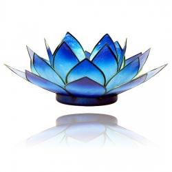 Lotus Kaarsenbrander - blauw 2-kleurig