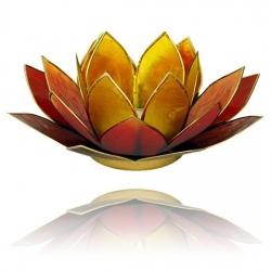 Lotus Kaarsenbrander - 3-kleurig geel/oranje/rood