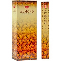 6 pakjes Almond wierook (HEM)