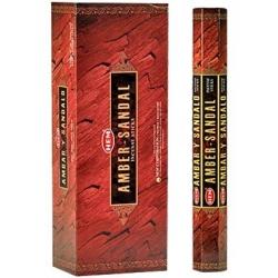 6 pakjes Amber-Sandal wierook (HEM)