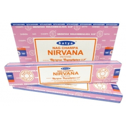 12 pakjes Nag Champa Nirvana wierook (Satya)