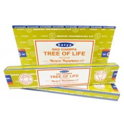 12 pakjes Nag Champa Tree of Life wierook (Satya)