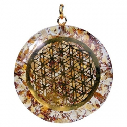 Orgone hanger Flower of life (citrien)
